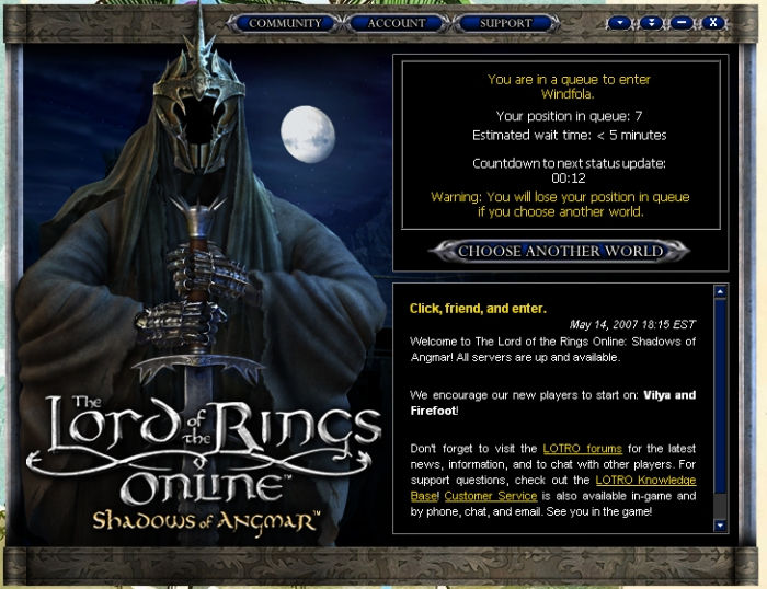 LOTRO Shadows of Angmar
