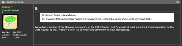 DDO Forum Post