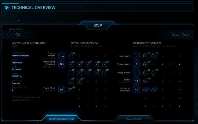 Origin 315P Technical Specs
